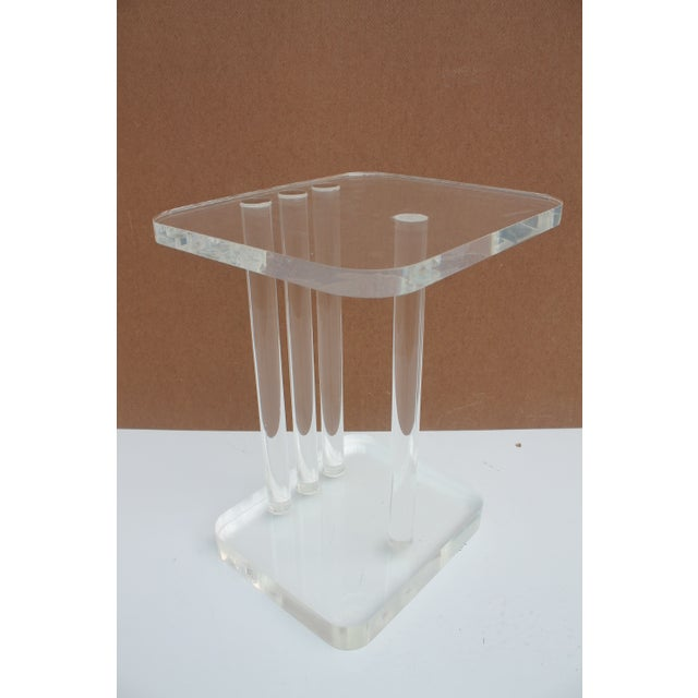 Mid-Century Modern Lucite Side Table - Image 2 of 11