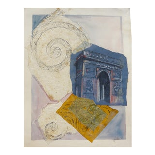 "Martha Holden ""L'arc De Triomphe"" Paris Collage For Sale"