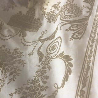 Fortuny Lamballe Moonlight and White Fabric For Sale