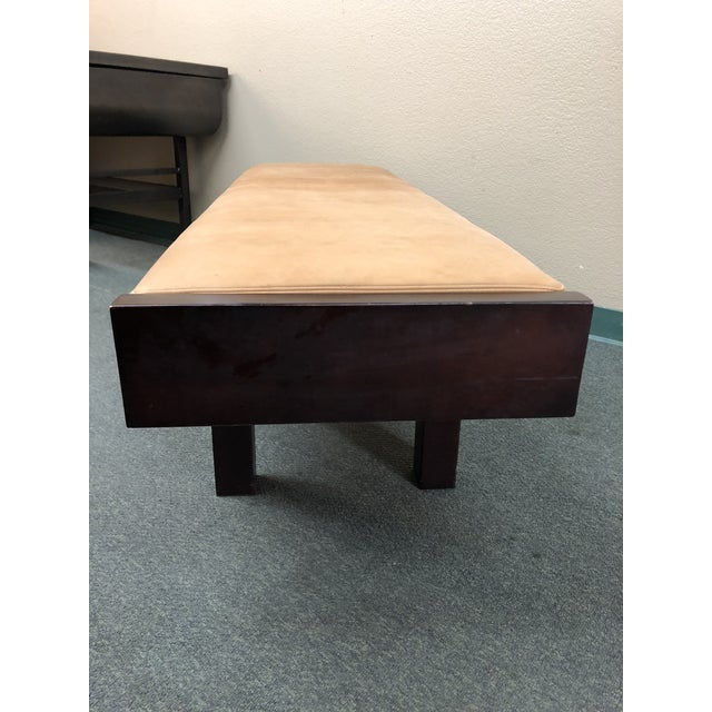 Custom Modern Coach Leather Top Bench For Sale In San Francisco - Image 6 of 12