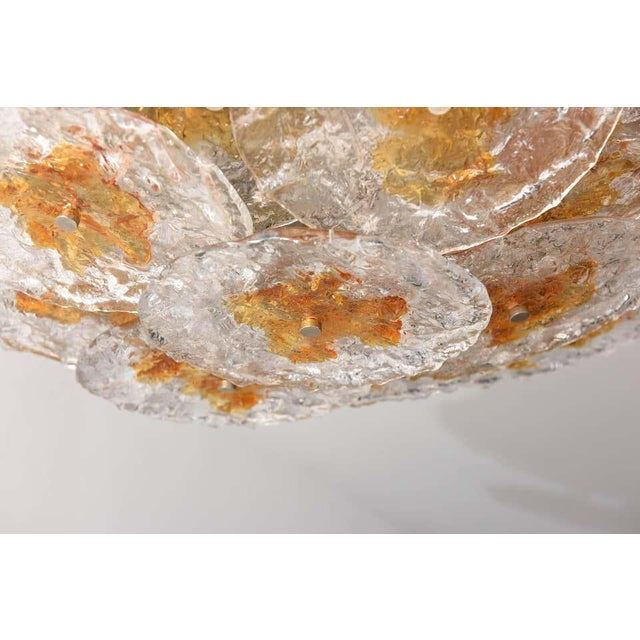 Mazzega Flushmount Chandelier in the Style of Carlo Nasan For Sale In West Palm - Image 6 of 12