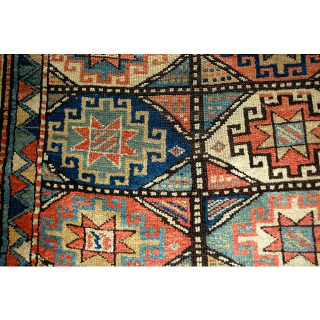 Antique hand made Caucasian Kazak Mohan rug in great condition. This rug has typical Mohan geometric tribal design. Very...