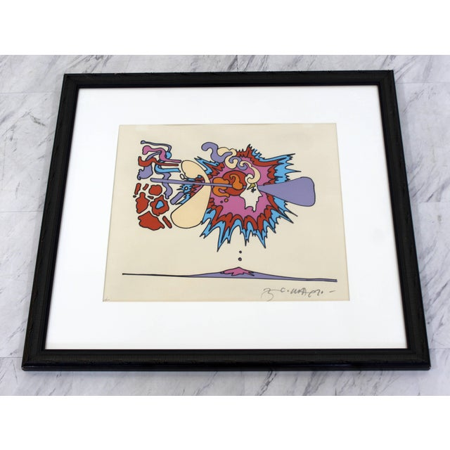 For your consideration is an incredible, framed print by Peter Max, signed, dated 1970 and numbered 18/310. In excellent...