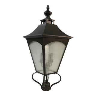 Feiss Seedy Glass Stainless Steel Post Lantern For Sale