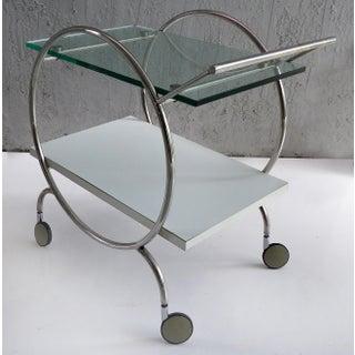 Post Modern 2-Tier Rolling Chrome Bar Cart Preview