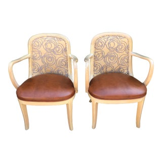 Vintage Signed Donghia Modern Designer Arm Chairs - a Pair For Sale