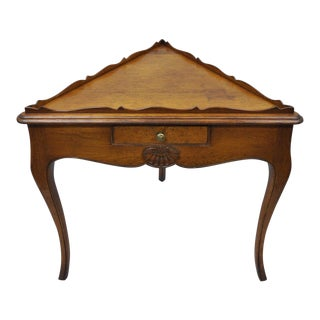 Country French Louis Triangle Side Table For Sale