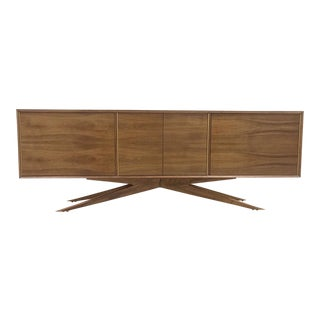 Brass Accent Credenza For Sale