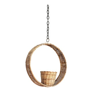 Vintage Circle Hanging Basket Planter For Sale