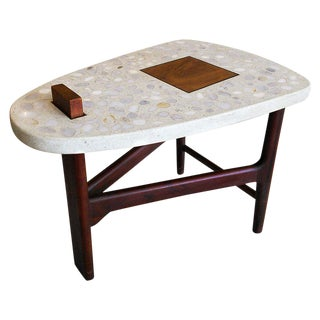 1960s Mid-Century Modern Harvey Probber Terrazzo End Table
