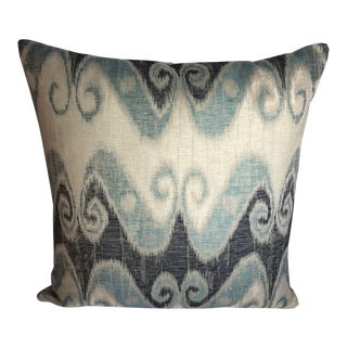 Schumacher Ikat Fabric Pillow For Sale