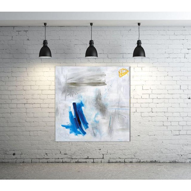 """2010s """"Clearing"""" by Trixie Pitts Large Abstract Oil Painting For Sale - Image 5 of 11"""