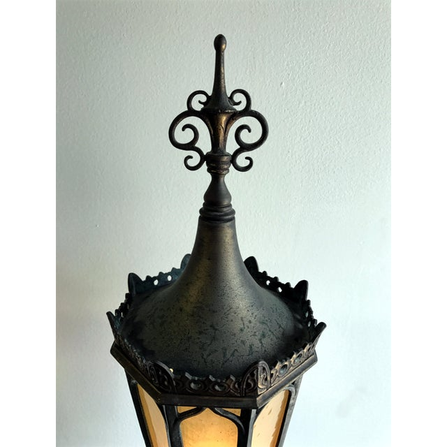 Bronze Oscar B Bach Gothic Bronze Floor Lamps - A Pair For Sale - Image 7 of 11