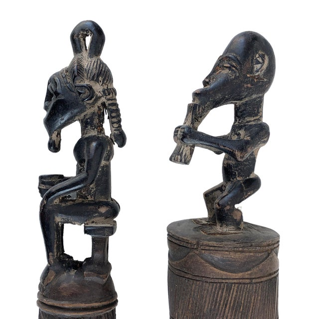 African Baule Brooms with Figures - a Pair For Sale - Image 9 of 10