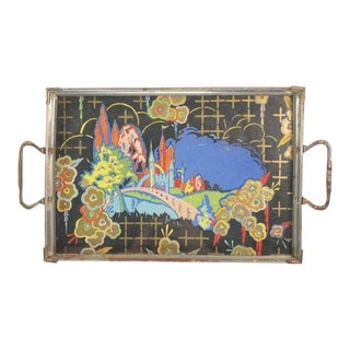 1930s Japanese Magical Castle Tray For Sale