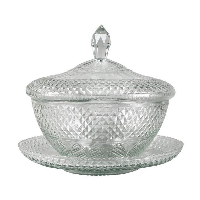 Anglo Irish Cut-Glass Covered Tureen and Underplate For Sale - Image 10 of 10