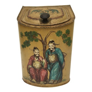 19th Century Chinoiserie Tin For Sale