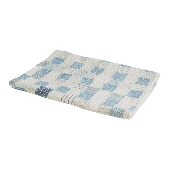Boro Patchwork Quilt Throw Blanket For Sale