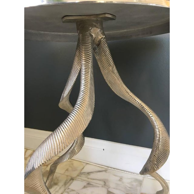 Mid-Century Modern Ibex Horn Side Table For Sale - Image 3 of 6