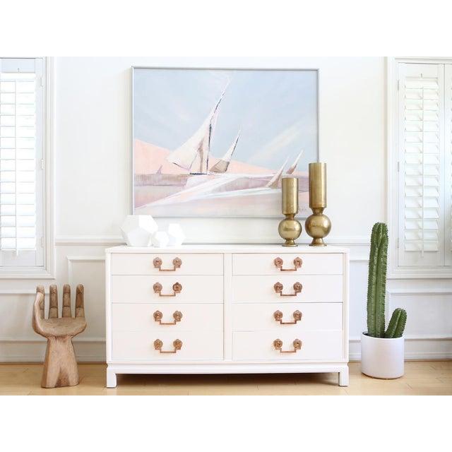 Landstrom Hollywood Regency High Gloss White Dresser - Image 3 of 7