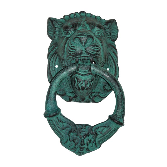 Verdigris Metal Lion's Head Ring - Image 1 of 7