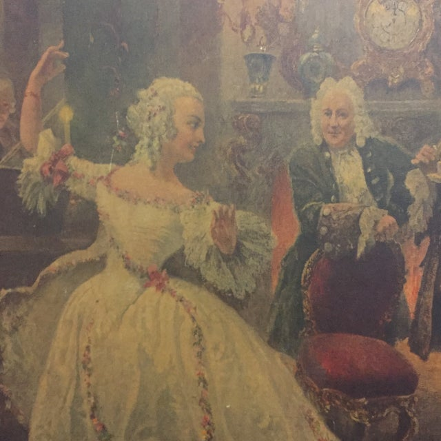Late 20th Century Georg Schobel French Court Painting For Sale - Image 5 of 8