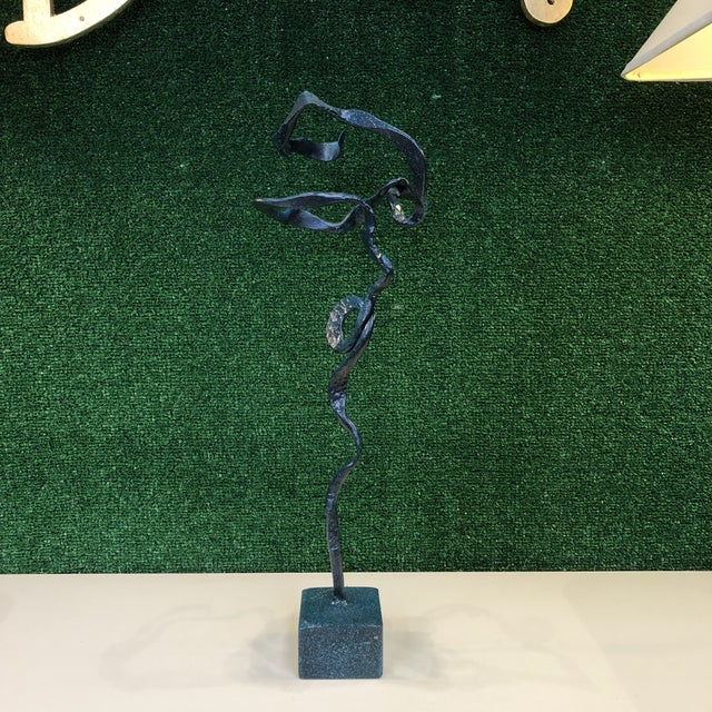 Freeform Verdigris Bronze Sculpture For Sale - Image 9 of 9