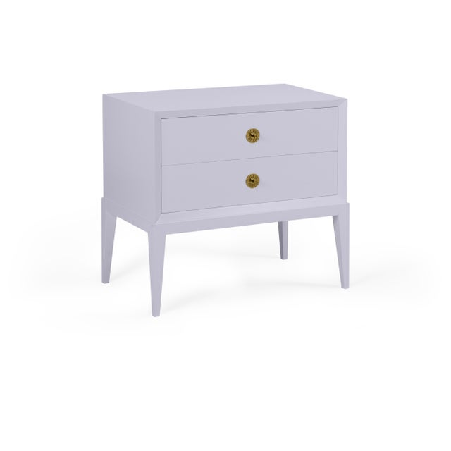 Transitional Casa Cosima Hayes 2-Drawer Side Chest, North Cascades For Sale - Image 3 of 3