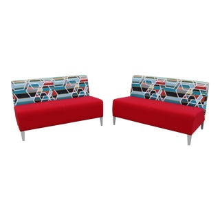 Alison Spear for Coalesse and Steelcase Loveseat Lounges - A Pair For Sale