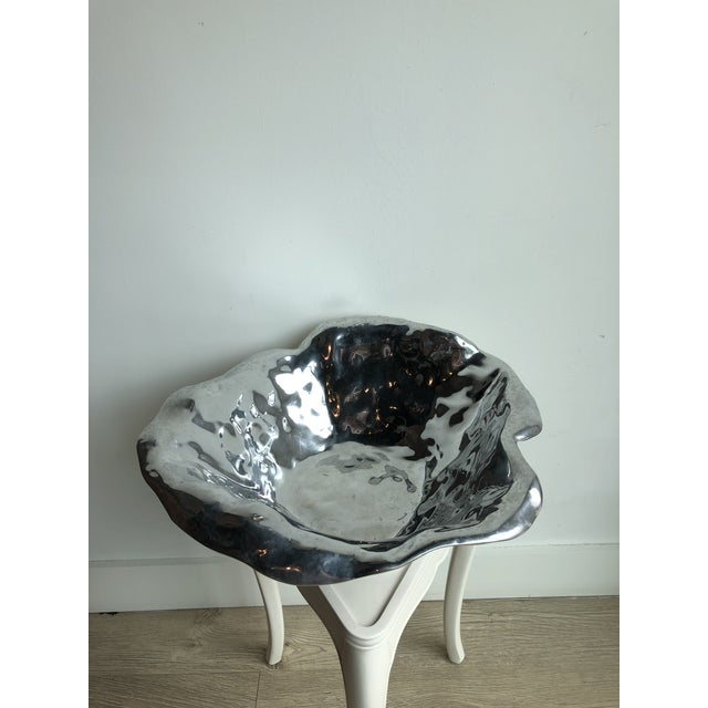 Silver Beatriz Ball Vento Alba Large Bowl For Sale - Image 8 of 9