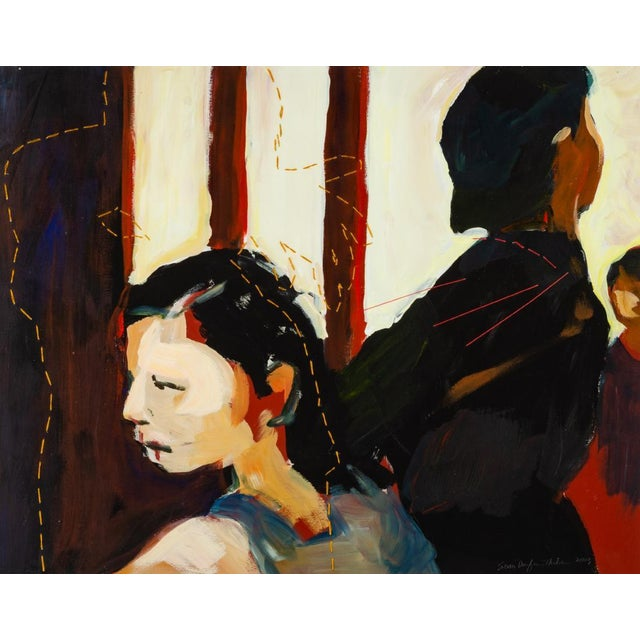 Portraiture Susan Durfee Thulin 'The Dance' Large Framed Painting For Sale - Image 3 of 13