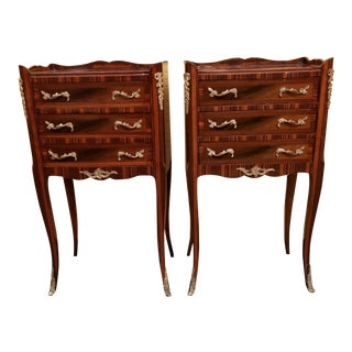 Vintage Louis XV Nightstands/Side Tables - a Pair For Sale