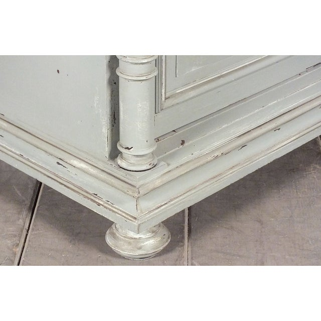 19th C. French Vintage Gray Credenza - Image 10 of 11