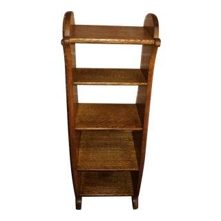 Antique Oak Display Bookcase For Sale