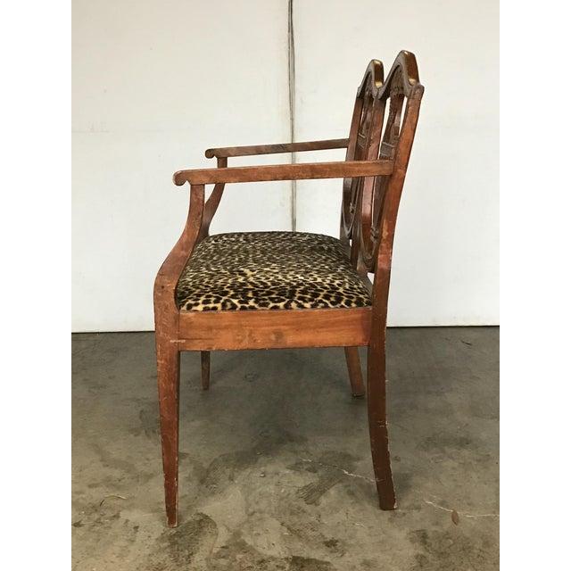 18th C. Italian Neoclassical Walnut Canape Bench For Sale In Atlanta - Image 6 of 7