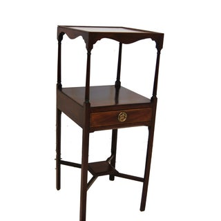 Mahogany Inlaid Two Tier Side Table For Sale