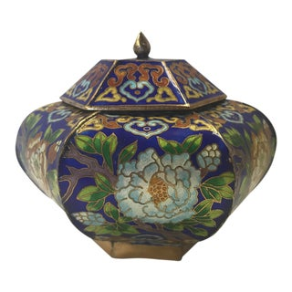 Chinese Cloisonné Covered Urn
