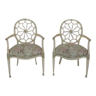 1990s Traditional John Widdicomb Adam Arm Chairs - a Pair For Sale