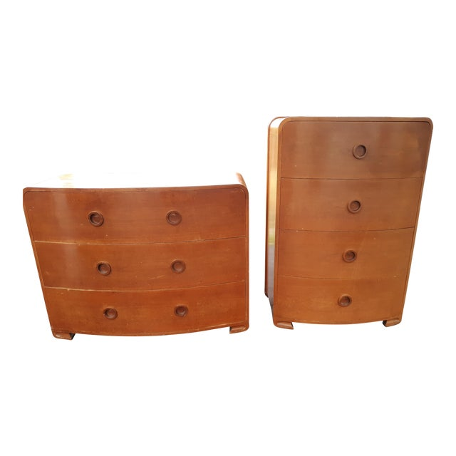 1930s Art Deco Count Alexis De Sakhnoffsky Chests of Drawers - Set of 2 For Sale