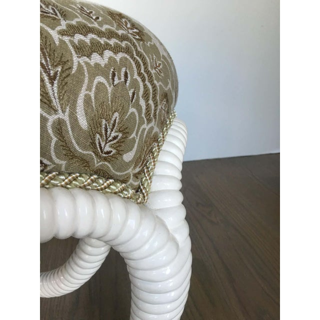 20th Century Napoleon III Style Lacquered Rope Twist Upholstered Tabouret For Sale - Image 4 of 9