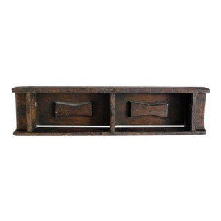 Antique Primitive Brazilian Brick Mold, Wood Shelf