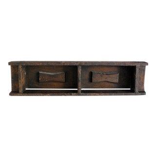 Antique Primitive Brazilian Brick Mold, Wood Shelf For Sale