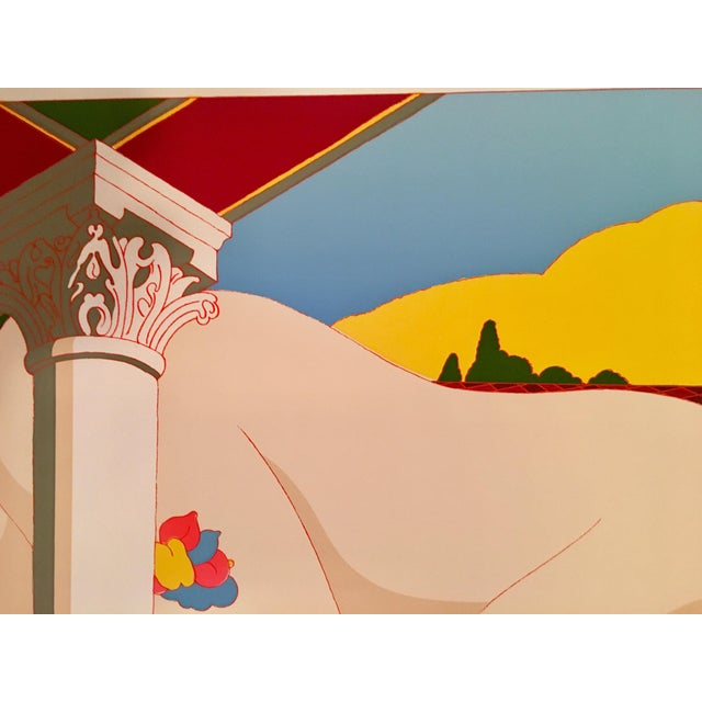 "Milton Glaser Rare 1979 Hand Signed Milton Glaser Serigraph, ""Nude on the Music Hall Floor"" For Sale - Image 4 of 12"