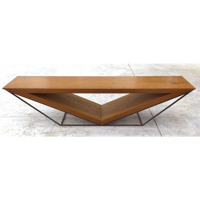 Leonardo Bueno Brazilian Imbuia Wood Sculptural Bench - Image 8 of 8