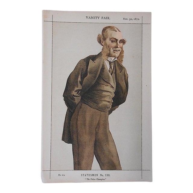Antique Vanity Fair Lithograph For Sale