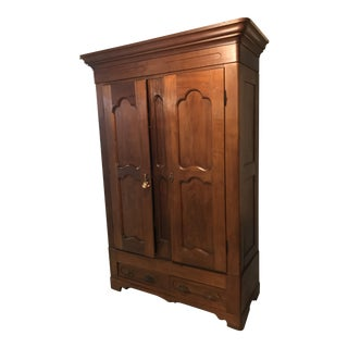 Ox Blood Traveling Wardrobe Armoire For Sale