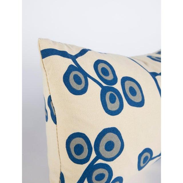 Modern Scandinavian Floral Cream Lumbar Pillow For Sale - Image 3 of 6