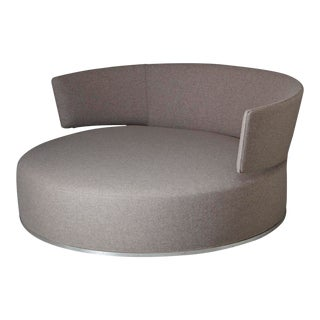 Amoenus - Circular Swivel Sofa by Antonio Citterio for B & B Italia, New Upholstery For Sale