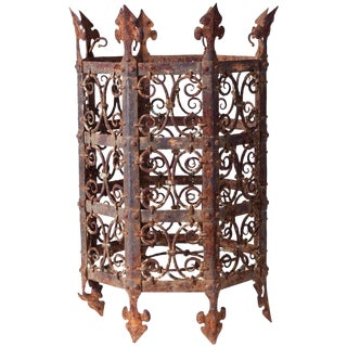 19th Century Decorative Iron Jardinière From France For Sale
