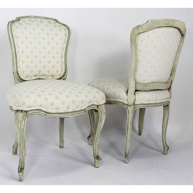 Late 20th Century Vintage Upholstered Dining Chairs- Set of 6 For Sale - Image 4 of 13